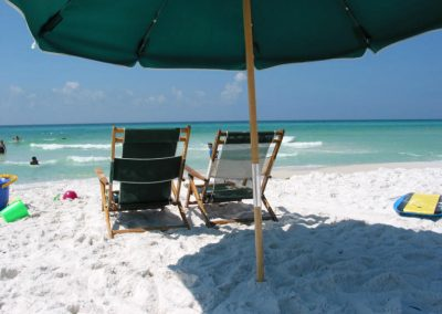 Beach chairs and umbrella included in Vacation Rental - Destin FL